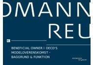 beneficial owner i oecd's modeloverenskomst - Kromann Reumert