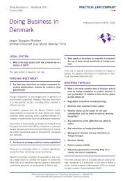Doing Business in Denmark - Handbook 2011 - Kromann Reumert