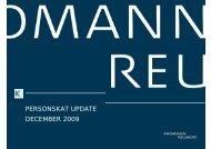 PERSONSKAT UPDATE DECEMBER 2009 - Kromann Reumert