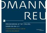 periodisering af taf i eal/asl sager og eal § 3 - Kromann Reumert