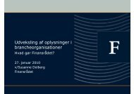 Udveksling af oplysninger i brancheorganisationer - Kromann ...