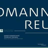 business transfers within technology and media - Kromann Reumert