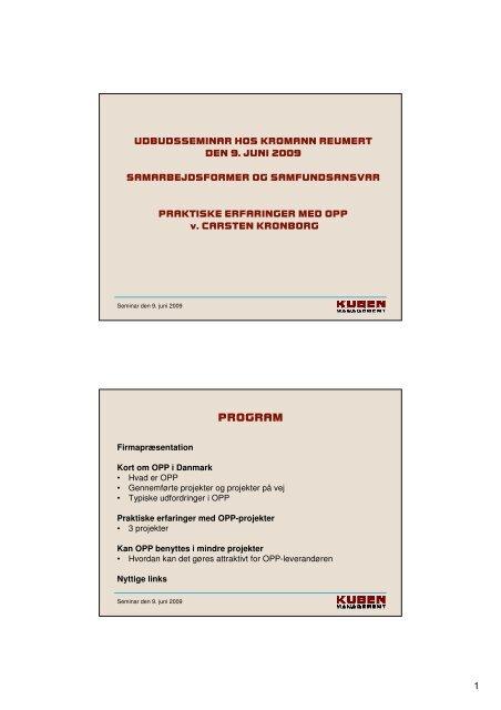 (Microsoft PowerPoint - Pr\346sentation om Kubens erfaringer med ...