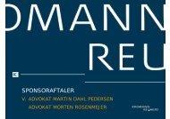 SPONSORAFTALER - Kromann Reumert