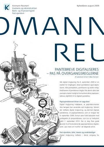 pantebreve digitaliseres - Kromann Reumert