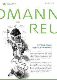 Nye regler om digital tinglysning - fast ejendom - Kromann Reumert