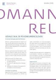 Konkurrenceret - Nyhedsbrev nr. 5/2009 - Kromann Reumert