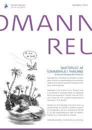 SKattepligt af SommeRhuS i thailaNd - Kromann Reumert