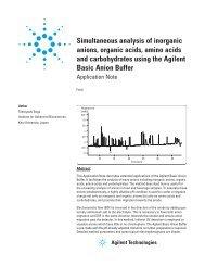 Simultaneous analysis of inorganic anions, organic acids, amino ...
