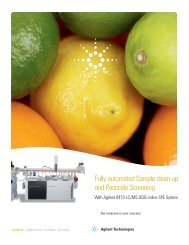 Fully automated Sample clean-up and Pesticide Screening