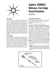 Agilent ZORBAX Reliance Cartridge Guard-Columns