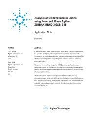 Analysis of Oxidized Insulin Chains using Reversed Phase Agilent ...