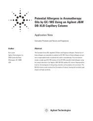Potential Allergens in Aromatherapy Oils by GC/MS Using an Agilent ...