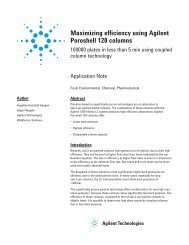 Maximizing efficiency using Agilent Poroshell 120 columns