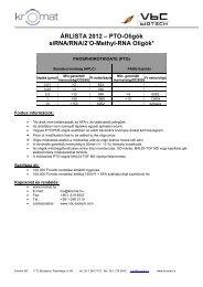 ÁRLISTA 2012 – PTO-Oligók siRNA/RNA/2'O-Methyl ... - Kromat Kft.