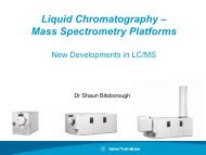 Liquid Chromatography – Mass Spectrometry Platforms