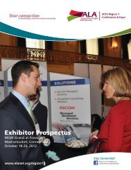 Exhibitor Prospectus - Association of Legal Administrators