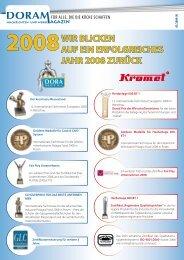 2008wir blicken auf ein erfolgreiches jahr 2008 zurück - Kromet