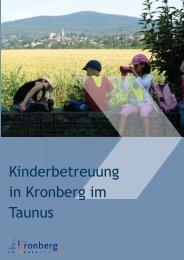 Kindertagesstättenbroschüre - Stadt Kronberg im Taunus