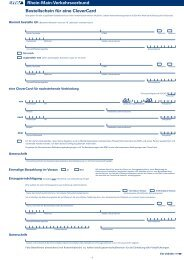 Bestellschein für eine CleverCard - Stadt Kronberg im Taunus