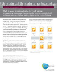 Multi-tenancy promises the best of both worlds: - Compuware ...