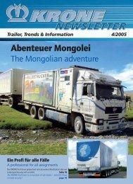 Abenteuer Mongolei - Fahrzeugwerk Bernard KRONE GmbH