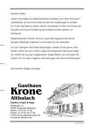 Menüvorschläge - Krone-Altbulach