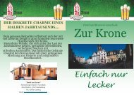 Download Menu Karte PDF - Hotel zur Krone
