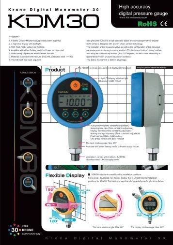 High accuracy, digital pressure gauge