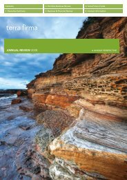 AnnuAl Review 2008 - Terra Firma