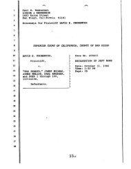 Rowe Declaration. - David Kronemyer