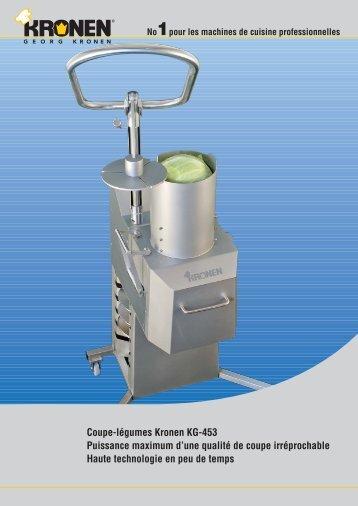Coupe-légumes Kronen KG-453 Puissance maximum d'une qualité ...