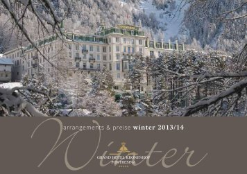 arrangements & preise winter 2013/14 - Grand Hotel Kronenhof