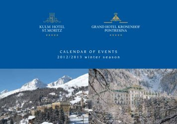 CALENDAR OF EVENTS 2012/2013 winter season - Grand Hotel ...