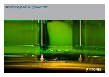 krones Separate Laugenkontrolle - Krones AG