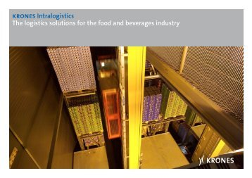 krones Intralogistics The logistics solutions for the food ... - Krones AG