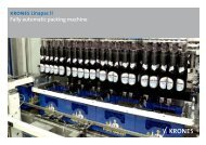 krones Linapac II Fully automatic packing machine - Krones AG