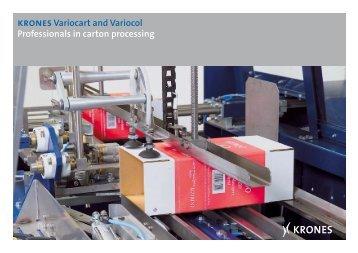kronesVariocart and Variocol Professionals in carton ... - Krones AG