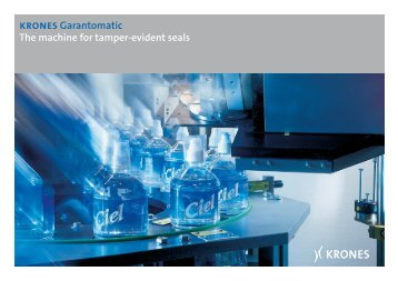 krones Garantomatic The machine for tamper-evident ... - Krones AG