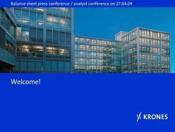 Presentation to Balance Sheet Press Conference