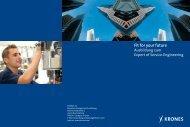 Fit for your future Ausbildung zum Expert of Service ... - Krones AG