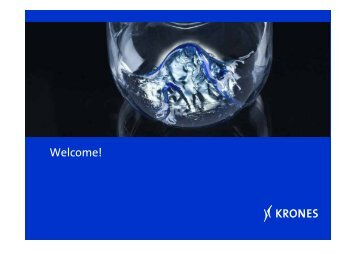 Presentation to Annual Stockholders' Meeting 2007 - Krones AG