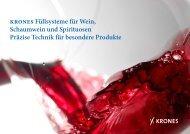 Krones Füllsysteme für Wein, Schaumwein und ... - Krones AG