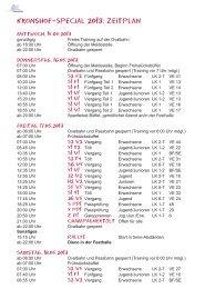 Kronshof-Special 2013: Zeitplan - IPZV