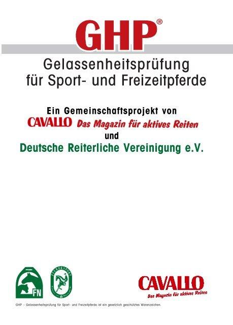 Gelassenheitsprüfung für Sport- und Freizeitpferde - Hof Kirchhorst