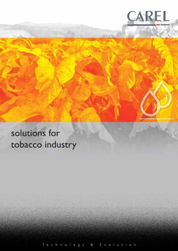 Humidity control in tobacco industry