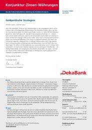 "Die neue ""alte""  EZB-Strategie - DekaBank"