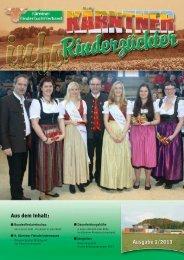 Ausgabe 1/2013 - Kärntner Rinderzuchtverband