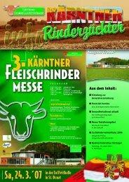 Aus dem Inhalt: - Kärntner Rinderzuchtverband