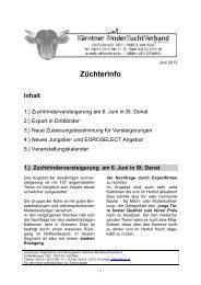 Rundschreiben Juni 2013 - Kärntner Rinderzuchtverband